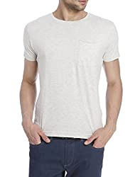Jack & Jones Mens T-Shirt (5711882951087_12072480BEIGE_XX-Large)