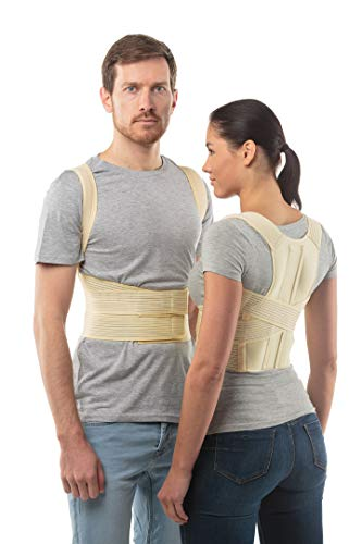 Posture Correction Belt by aHeal - Medical Orthopedic Straight Body Posture Corrector - Back Stabilizer of the Chest and Lumbar Spine - Size 1: 69-78 CM; 27-31