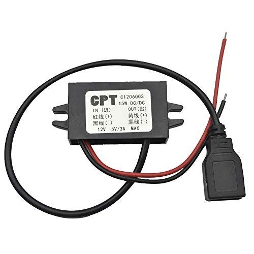 Dandeliondeme Dual/Single USB Auto 12V bis 5V 3A Max Converter Ladegerät für GPS-Tablet Telefon Niedriger Stromverbrauch für LED-Auto-Display, GPS, MP3, MP4 Auto DVD, Festplatten-Player Single USB