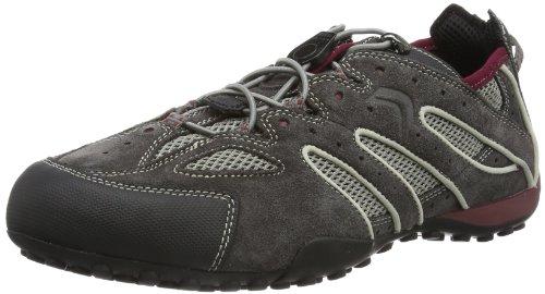 Geox UOMO SNAKE J Herren Sneakers Grau (DK GREY/BORDEAUXC0031)