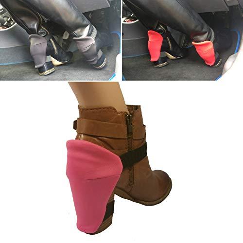 Protezione del tacco per gli stivali da donna per proteggere le scarpe dai graffi durante la guida rosa, boot cover