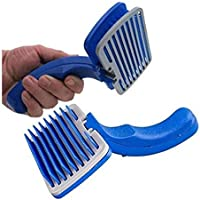 PSK PET MART Slicker Grooming Brush for Dogs and Cats, Spring-Loaded Self-Cleaning Feature, Remove Shedding Hair…