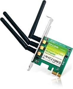 TP-Link TL-WDN4800 Scheda di Rete Wireless Dualband N 900 Mbps PCIe, 450 Mbps/2.4 Ghz & 450 Mbps/5 Ghz, 3 Antenne Esterne, Crittografia WPA/WPA2, Semplice Configurazione