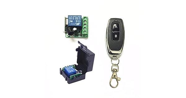 DC12V Relais 1CH Wireless Switch Empfängermodul RF 433Mhz lernen Fernbedien