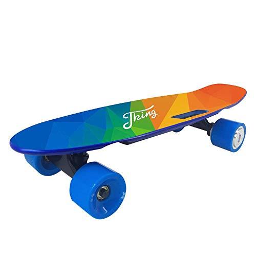 Y&XF Elektrisches Skateboard, Smart Scooter ANWENDUNG Geländetyp 4-Rad-Höchstgeschwindigkeit 20 km/h, Höchstlast 60 kg, Longboard mit drahtloser Fernbedienung (Roulette-rad 20)