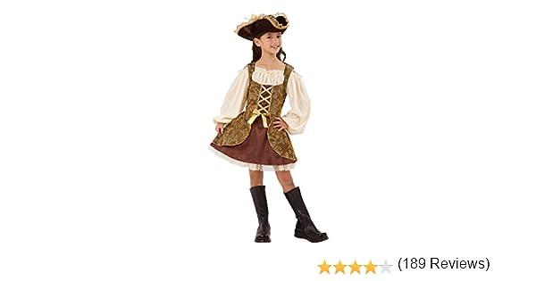 Bristol Novelty Abito da Pirata Dorato