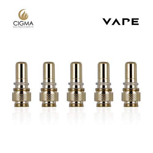 Cigma Vape Coils - 5 Packungen Coils für Cigma Vape Slim e-Zigarette - e-Shisha Nikotinfreier Vape Pen - Gold
