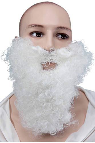Moustache et Barbe Frisée blanche