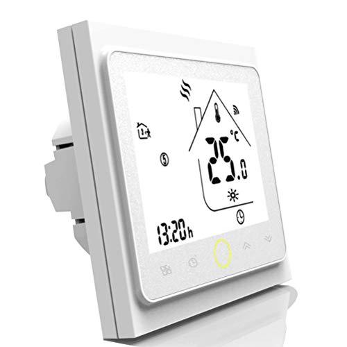 TTermostato programable Wifi para calefacción individual de calderas de gas/agua Funciona con Alexa/Google Home 5A Contacto seco