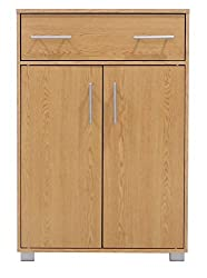 Free Standing Cupboard Reversible Door, 1 Draw 3 Shelf Sideboard Storage Unit | Palermo (Oak)