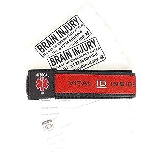 Brain Injury Awareness Bracelet UK. Mens Ladies Medical ID Alert Wristband. Alerts People Services & Authorities in an Emergency. Waterproof Updateable Not Engraved SOS ICE Free Online Service