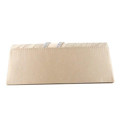Frauen-Handgriff Mit Abnehmbarer Kette Abendclutch Sling Handtaschen-Umschlag-Handtasche Red