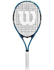 Wilson Raqueta de tenis unisex, Para jugar en todas las áreas, Para jugadores aficionados, Tour Slam Lite 105, Medida 2, Negro/Azul, WRT30200U2