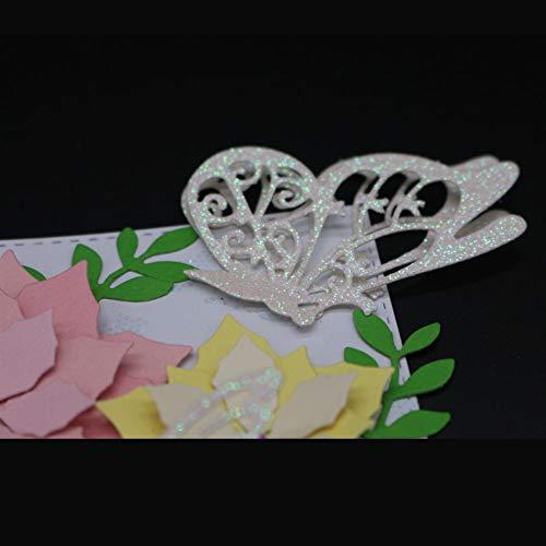 Lazzboy Fustelle Natale Scrapbooking Metallo Stencil Paper Card Craft per Sizzix Big Shot/Altre Macchine(E, Farfalle) - 5