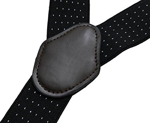 AWAYTR Bretelles Y pour Hommes Réglable 3.5cm 4 Clips Tartan