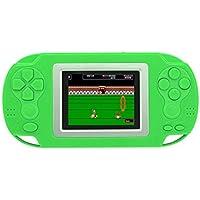 CZT 2,4 pulgadas Retro 8bit Game Handheld Player consola de juegos portátil Consola de juegos de vídeo incorporada 218 juegos para niños regalo (azul) (Green)
