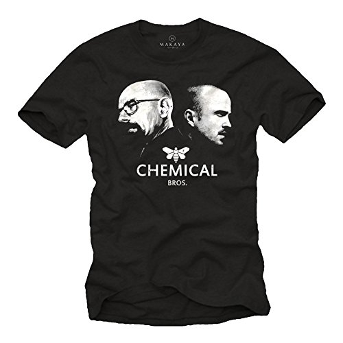 Breaking Bad T-Shirt für Herren CHEMICAL BROS. Schwarz Größe - Breaking Bad Los Pollos Hermanos Kostüm