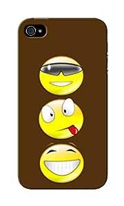KnapCase Smiley Trio Designer 3D Printed Case Cover For Apple iPhone 4