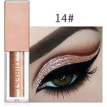 Flower205 Sombra de Ojos derretida perlada, Sombra de Ojos Colorida Brillante de 15 Colores,