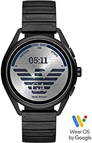Emporio Armani Men's Multicolor Dial Stainless Steel Digital Smartwatch - ART