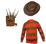 Unisex Kids Boys Girl's Horror Halloween Fancy Dress inc HAT, Jumper Set Ages 7/8 9/10 11/12 (Age 8, Red)