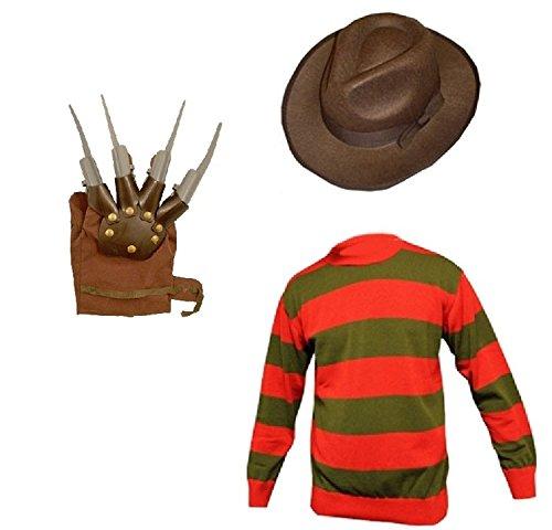l's Horror Halloween Fancy Dress inc HAT, Jumper Set Ages 7/8 9/10 11/12 (Age 8, Red) ()