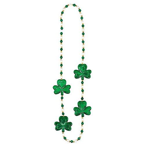 Amscan-Confezione da 91 cm per il St. Patrick's-Collana in perle con (Perla Del Trifoglio)