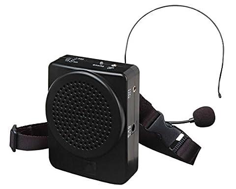 Karma BM536B Haut-parleur portable amplificateur de voix pour animateurs, guides touristiques, leçons scolaires