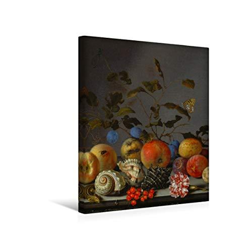fotobar!style Premium-Leinwand 40 x 50 cm Keilrahmen, Tiefe 2 cm Balthasar Van der AST - Stilleben mit Früchten. -