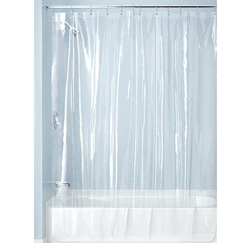 iDesign EVA Liner Futter für Duschvorhang, 183,0 cm x 183,0 cm großer Vorhang aus schimmelresistentem EVA mit zwölf Ösen, durchsichtig Eva Liner