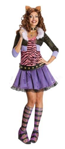 Zubehör Clawdeen Kostüm - Rubie's Offizielles Damen Monster High Clawdeen Wolf Deluxe Kostüm für Erwachsene, Größe L