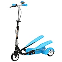 Smart Dual-Pedal 3 Wheel Scooter for Kids Toys - Blue