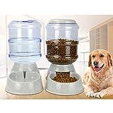 Automatische Haustierfutter-Zufuhr mit Tränke für Hunde Katzen Haustiere Tiere, 3.8L Haustier-Schwerkraft-Nahrungsmittelzufuhr-Wasserspender