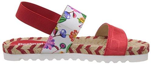 Desigual - Shoes_formentera 6, Sandali alla schiava Donna Rosso (Rot (3074 ROJISIMO))