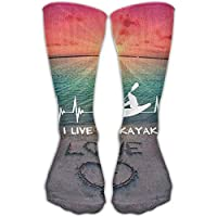 I Live To Kayak Htbeat Best High Performance Athletic Running Casual Socks For Men & Women