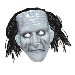 WIDMANN Mascara monstruo de plástico con cabellos adulto Halloween
