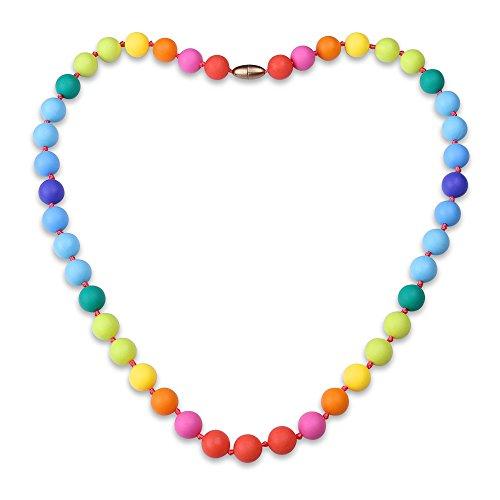 KOLOVEADA Regenbogen Baby Silikon Zahnen Halskette für Mama, Baby Teether Schmerzlinderung Krankenpflege Halskette Beruhigende Schmuck Kauen Perlen BPA frei und FDA genehmigt (Zu Hause Hat Mama Kostüme)