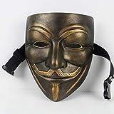 Masken für Erwachsene Maskenharz V Wort Vendetta Maske V Wort Geek Film weiße Maske Film Thema Maskerade Erwachsenen (Farbe : B)