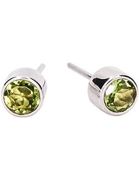 Luna Azure Olivin Peridot Edelstein Grün Sterling Silber 925 Ohrringe Ohrstecker - 5 Optionen