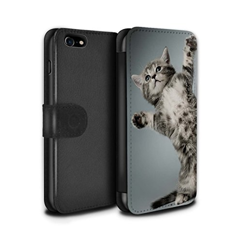 Stuff4 Coque/Etui/Housse Cuir PU Case/Cover pour Apple iPhone 4/4S / High five Design / Chatons mignons Collection High five