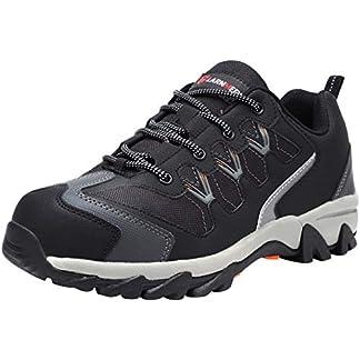 Zapatillas de Seguridad Hombre, LM-18 Zapatos de Seguridad Antideslizantes con Punta de Acero Antipinchazos Calzados de Trabajo
