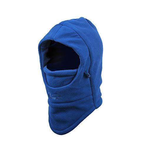 ZoomSky Sombrero de Invierno Gorro para niños y niñas Proteger Cuello de Gorro Ajustable para Salir o Viaje, al Aire Libre en Invierno y otoño (Azul)