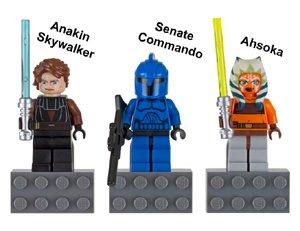 LEGO STAR WARS FIGUREN 3er SET (Anakin Skywalker, -