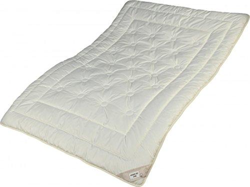 Garanta Zirbe Bettdecke 135 x 200 - Extra leichtes Sommer Steppbett - Füllung KBA Merino Schafschurwolle und Zirbenholz Spänen -