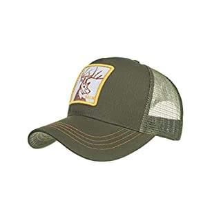 Amlaiworld Unisex Vintage Mesh Trucker Hat Outdoor Adjustable Animals Embroidery Baseball Cap Hip Hop Hat Summer Sun Hats
