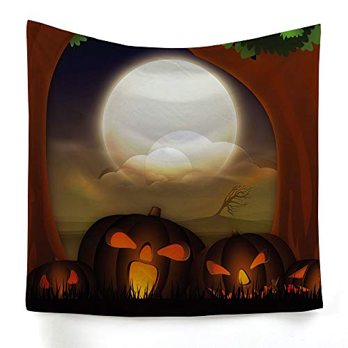 xkjymx Hängetuch Dekotuch Halloween Print Tapisserie Bild 4 230X150cm