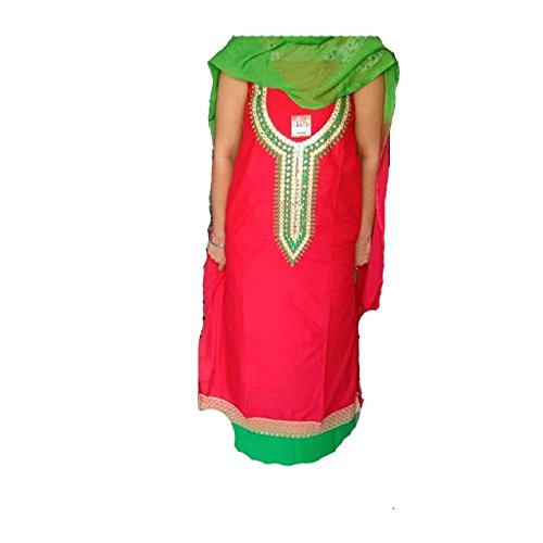 gumber enterprises latest suit collection 100% pure cotton suit (red & green...