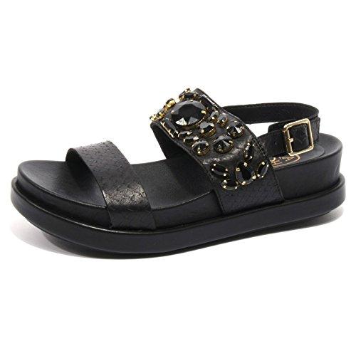 B2268 sandalo donna ASH STONE scarpa nero shoe woman [39]