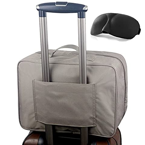 Nylon imperméable Sac de voyage Duffle Voyage bagages Holdall avec Flight Bag Trolley Sleeve For Holiday Gym Vêtements Suitcase Organisateur Emballage Sac(attaché Masque de sommeil)