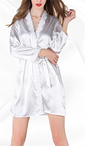 ADFHGFJ Frauen Nachthemden Sexy Babydoll Chemise Kleid Nachtwäsche, 165 (l) - Charmeuse Babydoll Set
